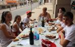 Almuerzos antes del cohete de fiestas de Tudela