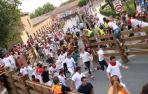 Una manada compacta protagoniza el segundo encierro de fiestas de Tudela