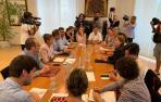 PSN, Geroa Bai, Podemos e I-E ya están reunidos para cerrar el acuerdo de gobierno en Navarra