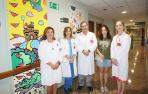 La Escuela de Arte de Corella plasma su creatividad en el Hospital Reina Sofía de Tudela
