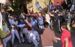 Fotos de la cogida del callejón del tercer encierro de fiestas de Tafalla