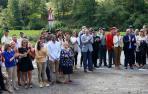 Asistentes al homenaje al cabo de la Guardia Civil Juan Carlos Beiro, asesinado por ETA hace 17 años