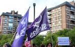 Cientos de personas arropan a los responsables de Skolae en la Audiencia de Navarra