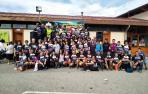 La cuarta edición de la carrera de montaña de ayer en Aoiz contó con la ayuda de un centenar de voluntarios, un apoyo e implicación que la organización quiso destacar y agradecer.