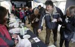 El queso de oveja latxa fue juzgado por los 135 visitantes