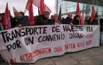 Huelga en el transporte de viajeros en Navarra para exigir el control de la jornada