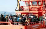 Casi 390 inmigrantes rescatados desde el viernes en pateras