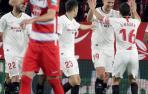 El Sevilla se afianza en la zona 'Champions' ante un inofensivo Granada