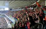 Afición de Osasuna en el Reale Arena