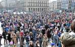 """El colectivo feminista llama en Pamplona a """"reforzar"""" la organización del feminismo"""