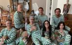 Fotografía Demi Moore y Bruce Willis con sus hijos durante el confinamiento.