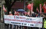 Manifestación de UGT y CC OO por el Día del Trabajador
