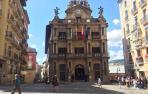 El Ayuntamiento de Pamplona, este sábado.