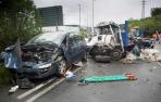 Fallece un camionero navarro en un accidente en la Gi-636 en Irún