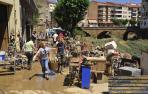9 de julio de 2019. Tafalla amaneció literalmente arrasada. La fuerza del agua y el barro dejó inutilizables decenas de objetos materiales y anegó decenas de bajos, viviendas y establecimientos comerciales y de hostelería.
