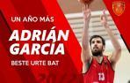 Adrián García seguirá un año más en Basket Navarra