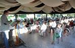 Intervención de Javier Esparza durante el Consejo Político de UPN celebrado ayer en Castejón.