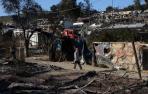 Nuevo incendio en el campo de refugiados de Moria en Lesbos