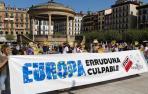 Una concentración denuncia en Pamplona las políticas migratorias en Europa