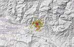 Imagen del Instituto Geográfico Nacional de uno de los terremotos la pasada noche.