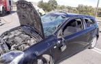 El coche sufrió daños de consideración.
