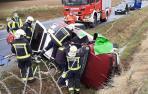 Un conductora herida en un accidente de tráfico en Alzuza (NA-150)
