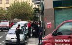 Detenido cuando salía de atracar un banco en Burlada