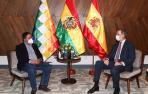 El rey Felipe y Pablo Iglesias se reúnen con Arce