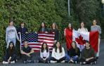 Los estudiantes navarros que iban a viajar este año a América gracias a las becas Fundación Amancio Ortega.