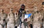 El líder de una de las facciones de Boko Haram en Nigeria habla en un discurso.