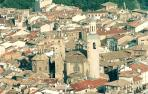 Vista aérea de la iglesia de San Saturnino.