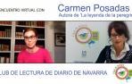 Encuentro virtual del Club de Lectura de Diario de Navarra con la escritora Carmen Posadas