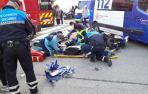 Herido grave un motorista en Pamplona