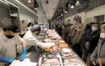 El besugo 'escala' a 90 euros el kilo y la merluza a 36 para Nochevieja