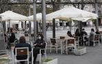 Imágenes de la reapertura de las terrazas de hostelería en Navarra