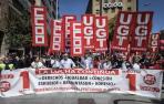 Manifestaciones del 1 de mayo en Pamplona. CASO