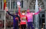 Fotos del podio final de la Vuelta a España 2020