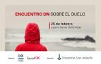 Cartel sobre el encuentro sobre el duelo y la pérdida en Diario de Navarra