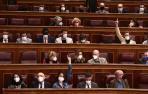 Un momento de una votación en el pleno del Congreso de los Diputados.