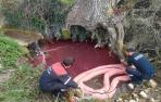 Identificado el presunto autor de un vertido de gasoil en el río Unzu
