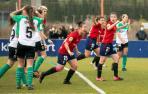 Ibra dedica su gol a la lesionada Marián Pueyo.