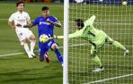 Courtois salva un punto para el Real Madrid en Getafe