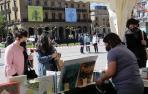 Día del libro en la Plaza del Castillo de Pamplona