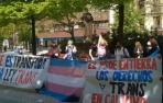 """Colectivos LGTBI protestan ante el PSN por el """"bloqueo"""" de la Ley Trans"""