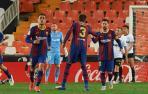 Messi celebra su gol ante el Valencia