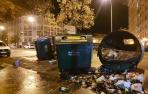 Decenas de encapuchados provocan incidentes en la Rochapea
