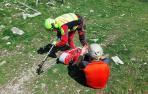 Un montañero ha sido rescatado por los bomberos con traumatismo en la cabeza en la cima del Txurregi