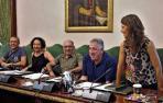 Parte del grupo municipal de Bildu. Desde la izquierda: Endika Alonso, Marian Aldaia, Joxe Abaurrea, Joseba Asiron y Maider Beloki.
