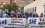 Concentración de la Plataforma Navarra de Salud.