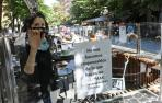 Las palomas roban el pintxo en Pamplona